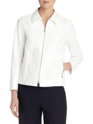 Chrissy Fundamental Bi-Stretch Jacket, White