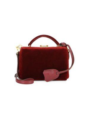 Mark Cross Grace Velvet Mini Box Bag