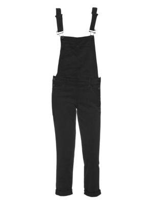 Sierra High Waist Overalls in Vintage Black