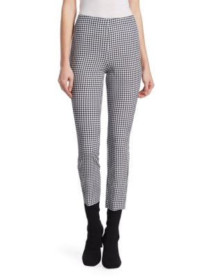 Simone Cropped Gingham Pants in Blue Multicolor