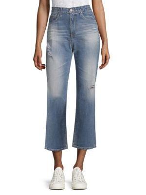 Rhett Straight-Leg Ankle Jeans in Medium Blue