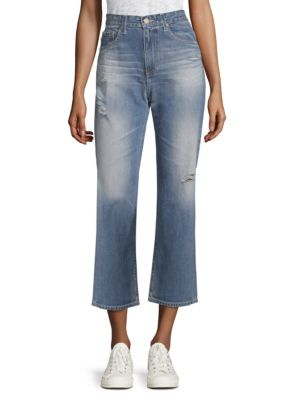 Rhett Straight-Leg Ankle Jeans, 12 Years-Navy Seal