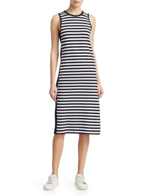 Brit Striped Side-Split Tank Dress in Multicoloured
