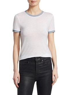Rag & Bone/jean Woman Cotton-jersey Top White Size M Rag & Bone Sale Original A52BWdE