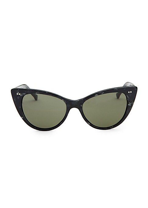 Image of On-trend sunglasses with retro-inspired shape.150mm lens width; 50mm bridge width; 140mm temple length.100% UV protection. Plastic. Imported.