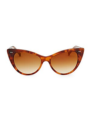 Image of On-trend sunglasses with retro-inspired shape 150mm lens width; 50mm bridge width; 140mm temple length 100% UV protection Plastic Imported. Soft Accessorie - Sunglasses > Saks Fifth Avenue. Colors in Optics. Color: Blonde.