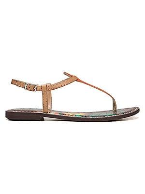 2b8eb768fa30 Sam Edelman - Gigi Lizard Print Floral Leather Thong Sandals