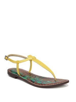 Land Of Enchantment Gigi Thong Sandals in Bright Yellow Silk Dupioni