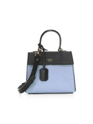 The Elizabeth Ii Mini Leather Satchel by Mateo New York