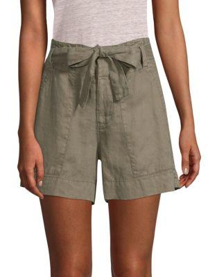Daynna Linen Shorts, Jungle