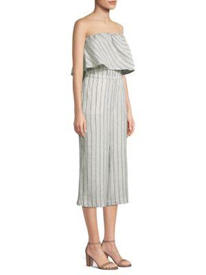 Brogan Stripe Linen Jumpsuit, Palm