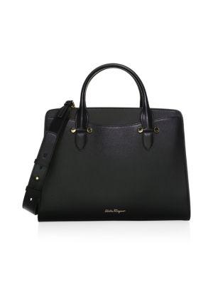 Today Score Nero Leather Handbag by Salvatore Ferragamo