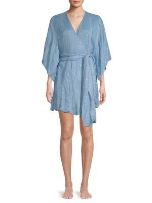 SUNDRESS Graziella Wrap Dress in Petra Light Blue