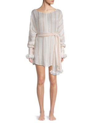 SUNDRESS Blenette Striped Dress in Gold White