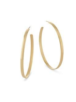 3b7a090020f63 LANA JEWELRY. Curve 14K Yellow Gold Hoop Earrings