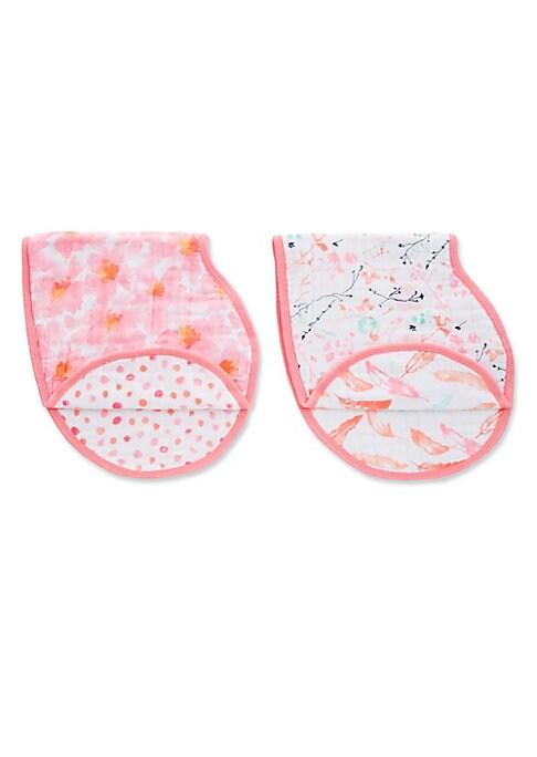 Babys Petal Blooms Burpy Bibs 2Pack