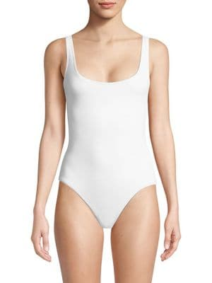 SOLÉ EAST Kelly One-Piece Scoopback Swimsuit in White