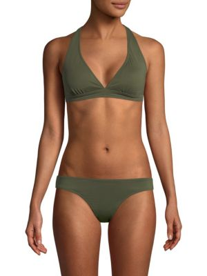 SOLÉ EAST Full Coverage Two-Piece Bikini Set in Army Green