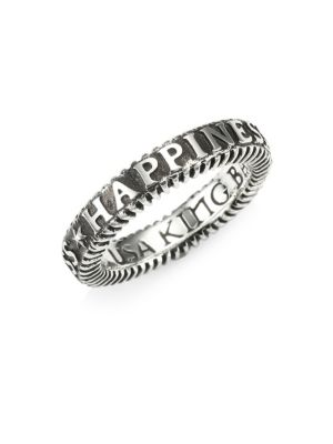 KING BABY STUDIO American Voices Happiness Stackable Ring in Silver