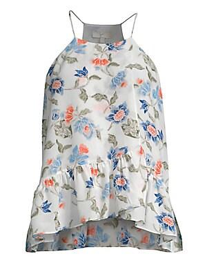 0d27002a463a66 Joie - Derwen Floral Ruffle Tank - saks.com