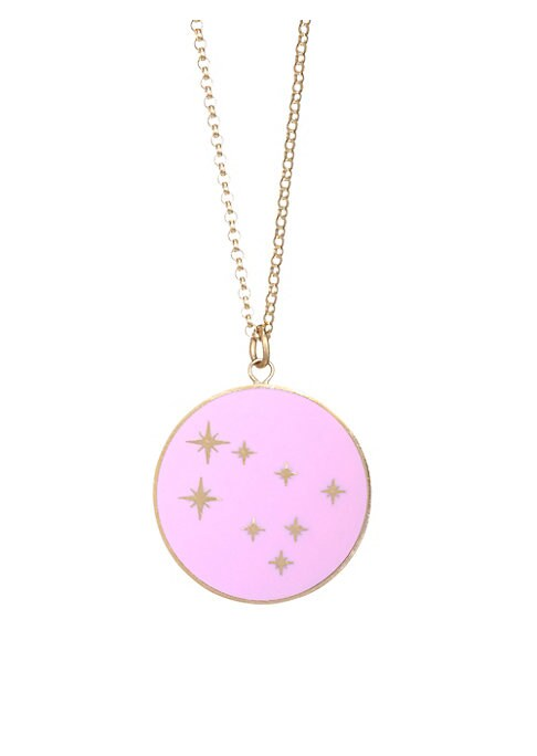"Image of From the Constellation Collection. Striking constellation design made for Geminis. Champleve enamel.18K yellow gold. Length, 16"" with 2"" extender. Pendant diameter, about 0.5"".Spring ring clasp. Made in USA."