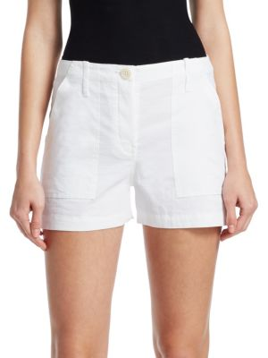 Organic Crunch Wash Cargo Shorts in White