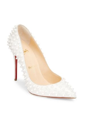 Follies Spikes Patent Leather Pumps by Christian Louboutin