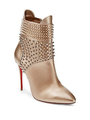 42562ebe4ca2 ... france christian louboutin. studded 100 leather booties 4cc40 8577c