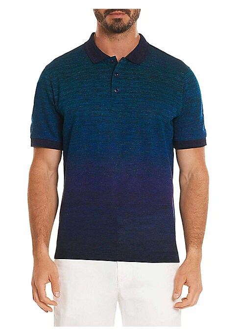 """Image of Timeless polo style in pure cotton. Polo collar. Three-button placket. Short sleeves. About 30"""" from shoulder to hem. Cotton. Machine wash. Imported."""