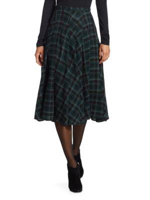 A-Line Brit-Check Midi Skirt, Ivy
