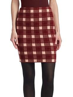 a171a4b2f1 Akris punto. Tweed Check Mini Skirt