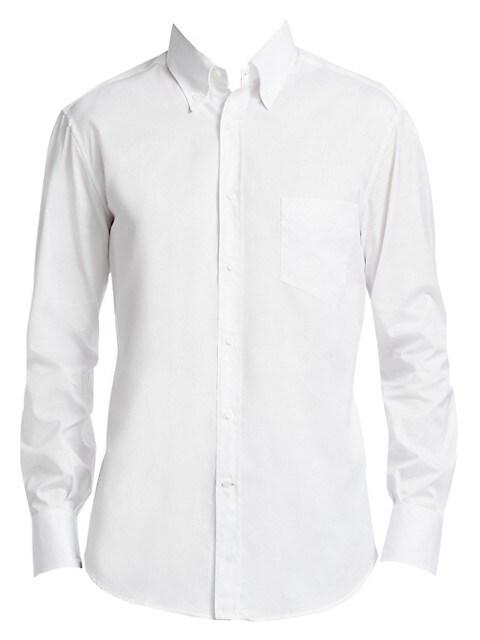Basic-Fit Cotton Button-Down Shirt