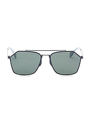 12ae73022c9a Fendi - 56MM Hexagon Aviator Sunglasses - saks.com