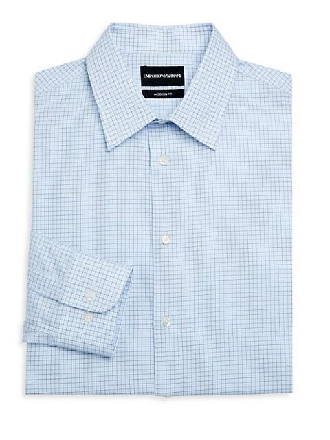 Modern Fit Check Button-Down Shirt