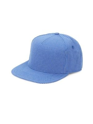 GENTS Chairman Check-Print Baseball Cap in Royal Blue