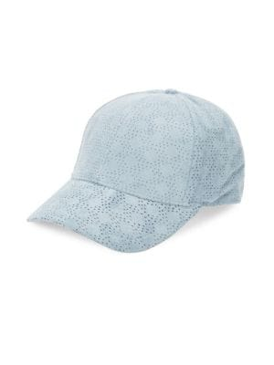 GENTS Executive Suede Baseball Cap in Baby Blue