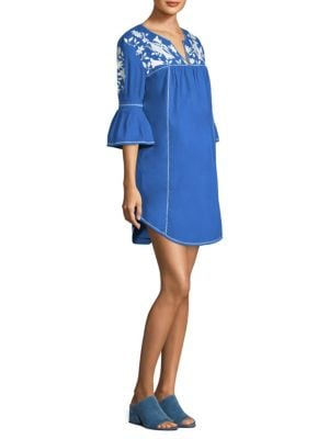 Clodagh Embroidered Poplin Dress by Joie