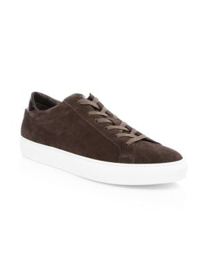 TO BOOT NEW YORK Knox Lace-Up Suede Sneakers in Brown