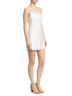 Harmony Sleeveless Mini Slip Dress in White