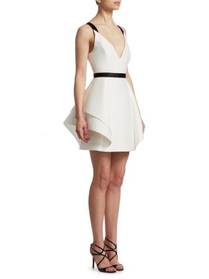 Flounce Skirt Dress by Halston Heritage