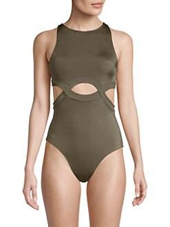 f85ab8d35f5ef OYE Swimwear. Elvan High Neck One-Piece Swimsuit