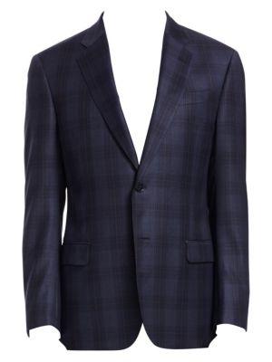 Emporio Armani G Line Plaid Wool Sportcoat