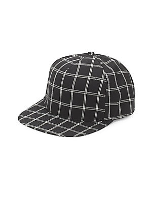 b4a838e6e5b35 Plaid Wool Fedora.  98.00. Gents - Flat-Brim Check-Print Baseball Cap
