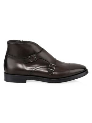 To Boot New York Boots Basel Double Monk-Strap Leather Ankle Boots