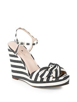 c6e54ef58c9d Kate Spade New York Janae Striped Wedges