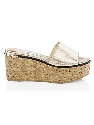 51eda22894f7 Chloé - Camille Leather Platform Sandals - saks.com