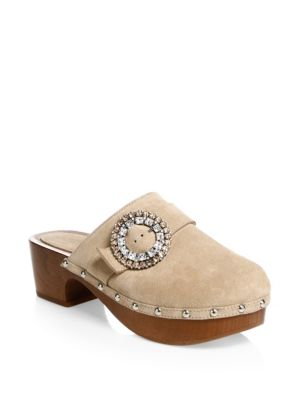 Doralie Suede Embellished Clog by Jimmy Choo