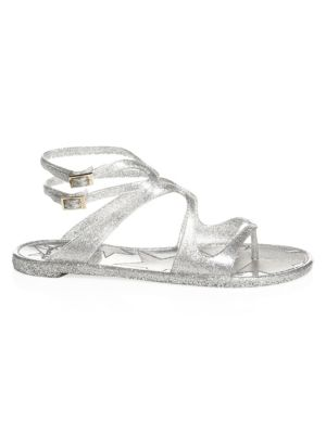 Women'S Lance Strappy Jelly Sandals in Silver