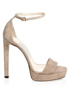 8fab38e9e766 QUICK VIEW. Jimmy Choo. Misty Suede Ankle-Strap Platform Sandals