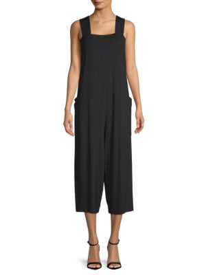 Wide Strap Cropped Jumpsuit by Eileen Fisher
